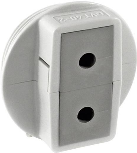 Icotek QVT 40/2 Kabeldurchführung teilbar Polycarbonat Grau 1 St.