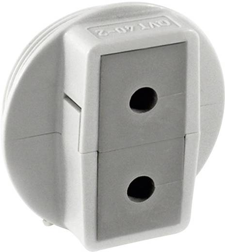 Kabeldurchführung teilbar Polycarbonat Grau Icotek QVT 40/2 1 St.