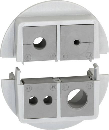 Kabeldurchführung teilbar Polycarbonat Grau Icotek QVT 50/4 1 St.