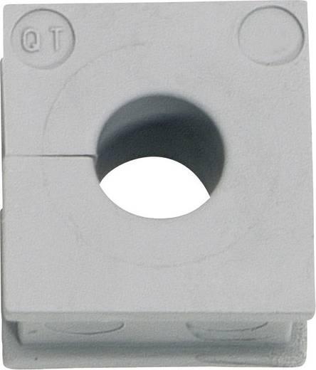 Kabeldurchführung Klemm-Ø (max.) 13 mm Elastomer Grau Icotek QT 12 1 St.