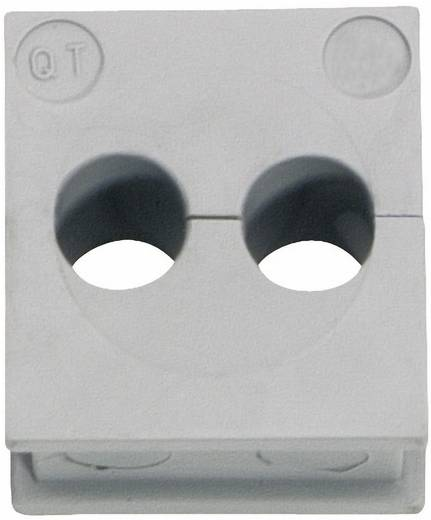 Kabeldurchführung Klemm-Ø (max.) 5 mm Elastomer Grau Icotek QT 2/5 1 St.