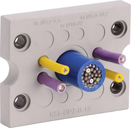 Icotek KEL-DPZ-B17 Kabeldurchführungsplatte Klemm-Ø (max.) 16.2 mm Polyamid, Elastomer Grau 1 St.