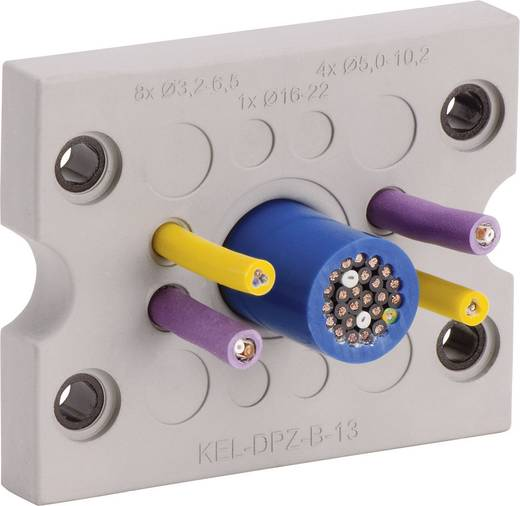 Kabeldurchführungsplatte Klemm-Ø (max.) 16.2 mm Polyamid, Elastomer Grau Icotek KEL-DPZ-B17 1 St.
