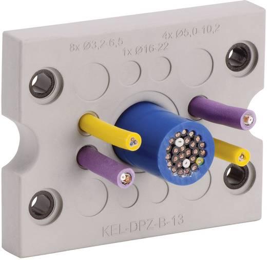 Kabeldurchführungsplatte Klemm-Ø (max.) 6.5 mm Polyamid, Elastomer Grau Icotek KEL-DPZ-B25 1 St.