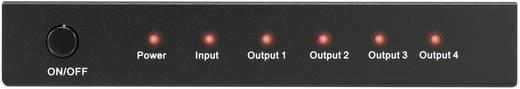4 Port HDMI-Splitter SpeaKa Professional 3D-Wiedergabe möglich 1920 x 1080 Pixel Schwarz