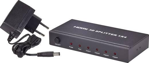 4 Port HDMI-Splitter SpeaKa Professional 419155 3D-Wiedergabe möglich 1920 x 1080 Pixel Schwarz
