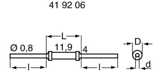 Metallschicht-Widerstand 820 Ω axial bedrahtet 0414 1 W MFR1145 1 % 1 St.