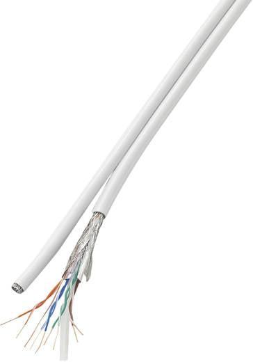 Netzwerkkabel CAT 6 SF/UTP 8 x 2 x 0.196 mm² Weiß Conrad Components 419325 50 m