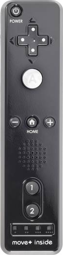 Wii Controller (kein Original Nintendo-Produkt) TPWI-112BB-MP Nintendo® Wii, Nintendo® Wii U Schwarz
