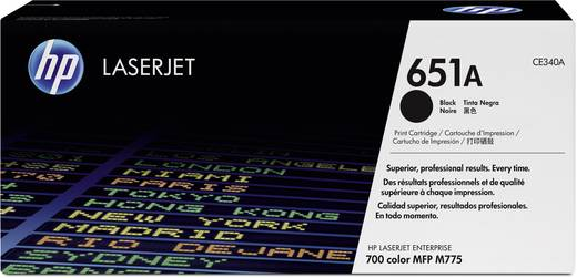 HP Toner 651A CE340A Original Schwarz 13500 Seiten