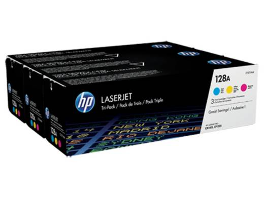 HP Toner Kombi-Pack 128A CF371AM Original Cyan, Magenta, Gelb 1300 Seiten
