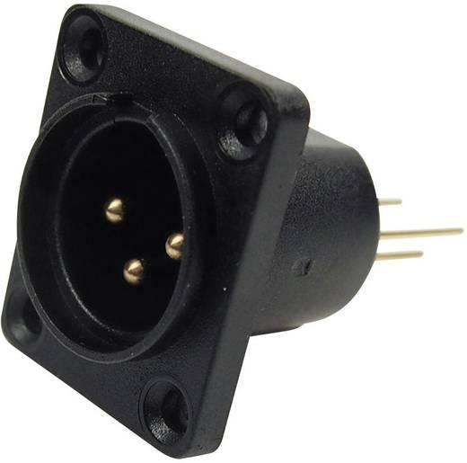 XLR-Steckverbinder Flanschstecker, Kontakte gerade Polzahl: 3 Schwarz Cliff CP30061 1 St.