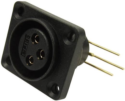 XLR-Steckverbinder Flanschbuchse, Kontakte gewinkelt Polzahl: 3 Schwarz Cliff CP30072 1 St.