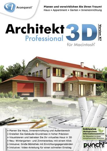 Avanquest Architekt 3D X7 Professional Vollversion, 1 Lizenz