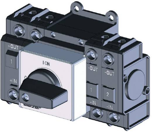 Lasttrennschalter Gleichspannung 20 A 1000 V 1 x 90 ° Schwarz Sälzer D242-84200-026M1 1 St.