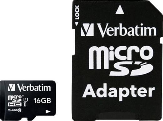 microSDHC-Karte 16 GB Verbatim MICRO SDHC 16GB CL 10 ADAP Class 10 inkl. SD-Adapter