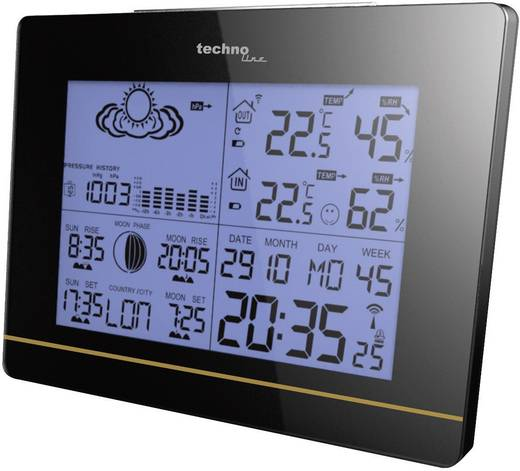 Funk-Wetterstation Techno Line Station météo sans fil WS 6750 WS 6750 Vorhersage für 12 bis 24 Stunden