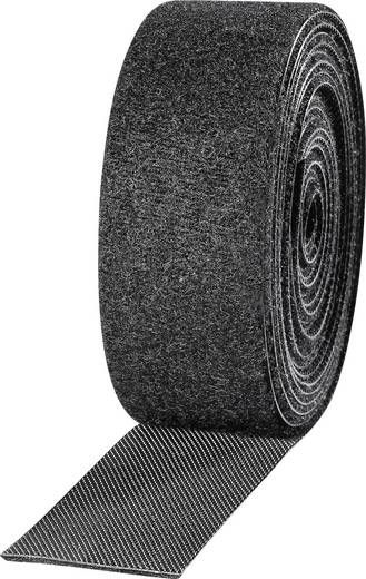 Klettband zum Bündeln Haft- und Flauschteil (L x B) 2500 mm x 25 mm Schwarz TOOLCRAFT KL25X2500C 2 Rolle(n)