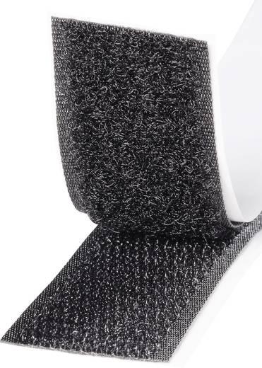 Klettband zum Aufkleben Haft- und Flauschteil (L x B) 2000 mm x 25 mm Schwarz TOOLCRAFT KL25X2000C 1 Paar