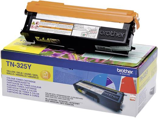 Brother Toner TN-325Y TN325Y Original Gelb 3500 Seiten