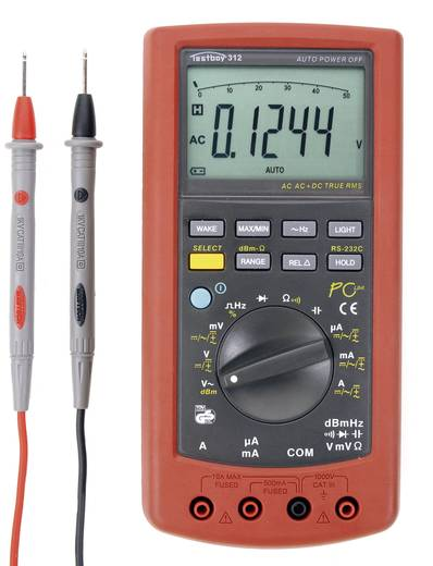 Hand-Multimeter digital Testboy 312 Kalibriert nach: Werksstandard CAT III 1000 V Anzeige (Counts): 51000