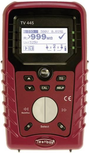 TV 445 Installationstester/VDE-Prüfgerät, DIN VDE 0100-600, ÖVE E8001, NIN/NIV, FI/RCD-Prüfung Typ AC, A Kalibriert nach