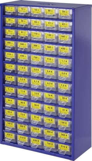 Metallschicht-Widerstand Sortiment axial bedrahtet 0.25 W 1 % 1 Set
