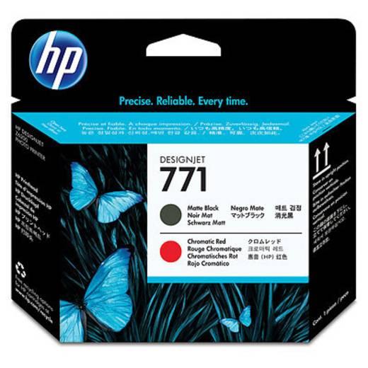 HP Druckkopf 771 Original Matt Schwarz, Rot CE017A