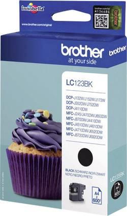 Inkoustová kazeta Brother Ink LC-123BK originál černá LC123bk