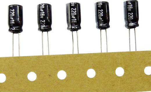 Elektrolyt-Kondensator radial bedrahtet 5 mm 2200 µF 25 V/DC 20 % (Ø x H) 12.5 mm x 25 mm Panasonic ECA1EHG222B 1 St.