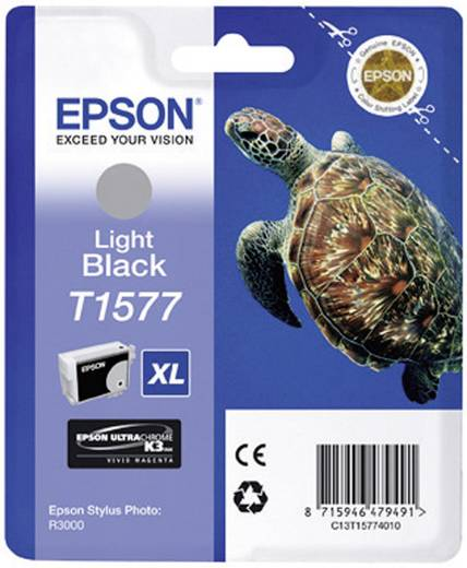 Epson Tinte T1577 Original Light Schwarz C13T15774010
