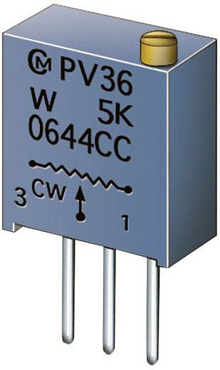 Cermet-Trimmer 25-Gang linear 0.5 W 500 kΩ 9000 ° Murata PV36W504C01B00 1 St.
