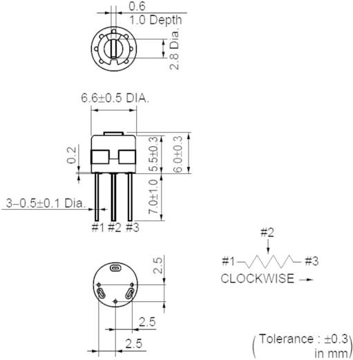 Cermet-Trimmer 20 kΩ Murata PV32P203A01B00 1 St.