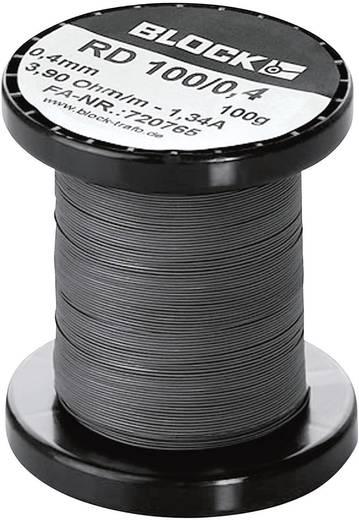 Widerstandsdraht 62.4 Ω/m Block RD 100/0,1 1430 m