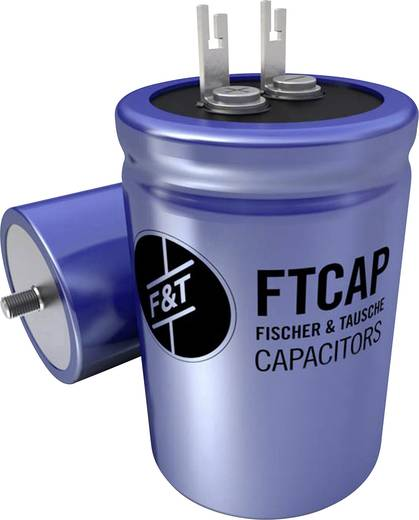 Elektrolyt-Kondensator radial bedrahtet 15000 µF 40 V 20 % (Ø x H) 35 mm x 66 mm FTCAP LFB15304035066 1 St.