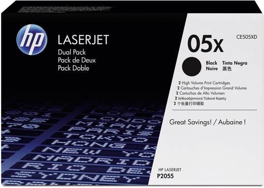 HP Toner 2er-Pack 05X CE505XD Original Schwarz 13000 Seiten