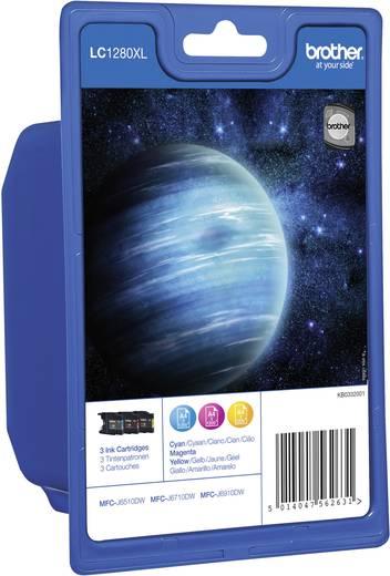 Brother Tinte LC-1280XL Original Kombi-Pack Cyan, Magenta, Gelb LC1280XLRBWBPDR
