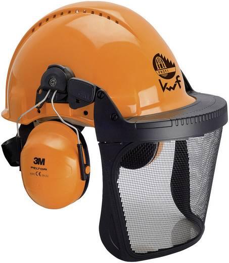 Forstschutzhelm mit integriertem Visier Orange 3M Forest XA007707368