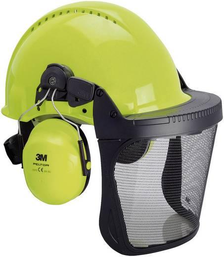 Forstschutzhelm mit integriertem Visier Neon-Grün 3M G3000 XA007707277
