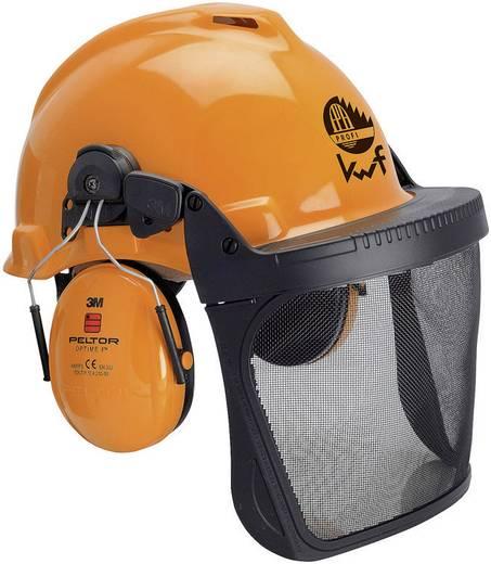 Forstschutzhelm mit integriertem Visier Orange 3M Forest XA007707319