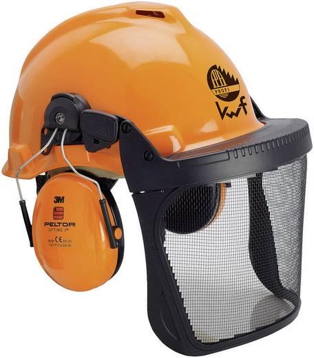 Forstschutzhelm mit integriertem Visier Orange 3M Forest XA007707335