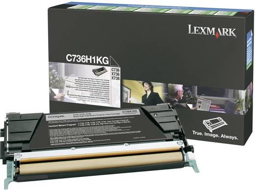Lexmark Toner C736H1 C736H1KG Original Schwarz 12000 Seiten