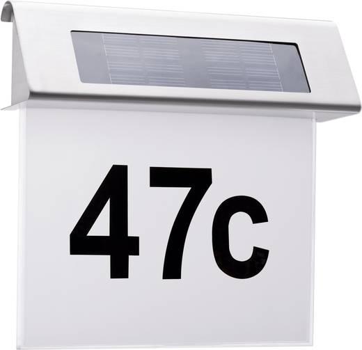 Solar-Hausnummernleuchte 0.2 W Warm-Weiß Paulmann 93765 Edelstahl, Weiß