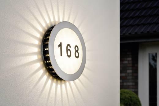 LED-Hausnummernleuchte 5.6 W Warm-Weiß Paulmann Sun 93769 Edelstahl, Weiß