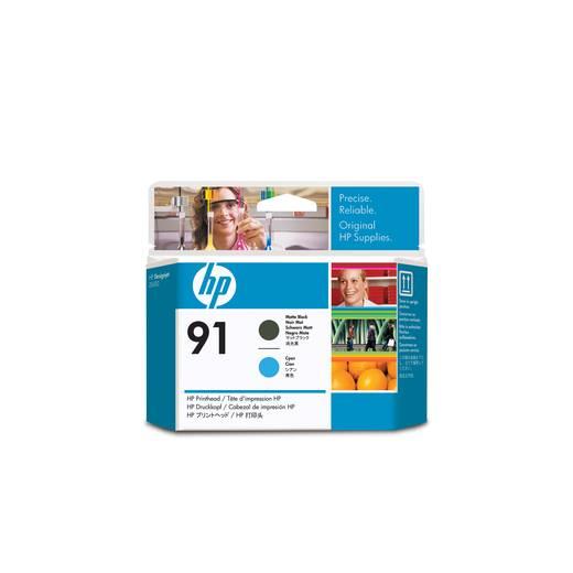 HP Druckkopf 91 Original Matt Schwarz, Cyan C9460A