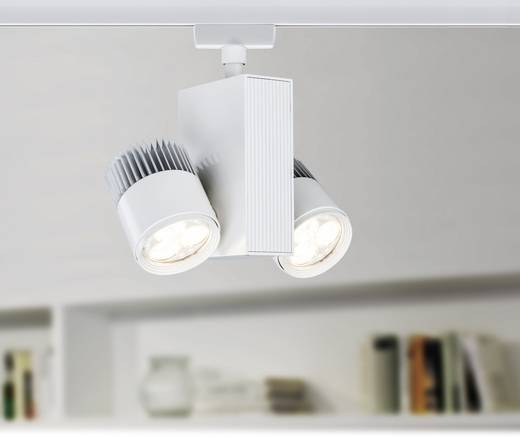 Hochvolt-Schienensystem-Leuchte URail LED fest eingebaut 18 W LED Paulmann TecLed Weiß