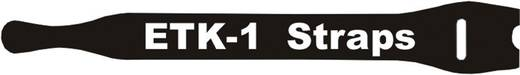 Klettkabelbinder zum Bündeln Haft- und Flauschteil (L x B) 200 mm x 13 mm Schwarz Fastech E1-2-330-B100 1 St.