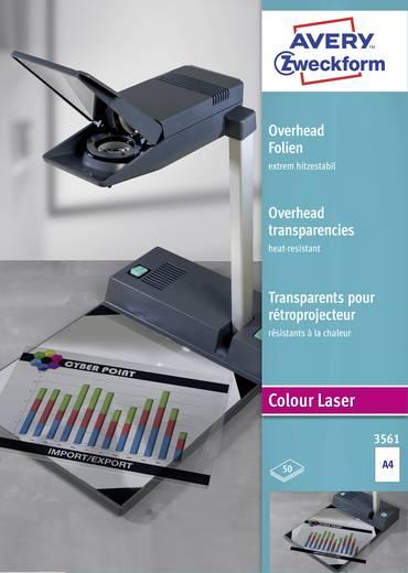 Laser Overhead-Folie Avery-Zweckform Overhead Folien extrem hitzestabil 3561 DIN A4 Optimiert für Laser, Reißfest, Bedru