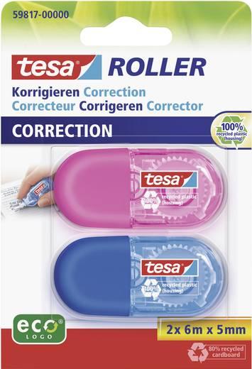 Korrekturroller Blau, Pink (L x B) 6 m x 5 mm tesa 59817-00 2 St.
