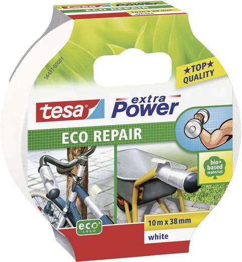 Gewebeklebeband tesa tesa® Extra Power ECOLOGO Weiß (L x B) 10 m x 38 mm Kautschuk Inhalt: 1 Rolle(n)